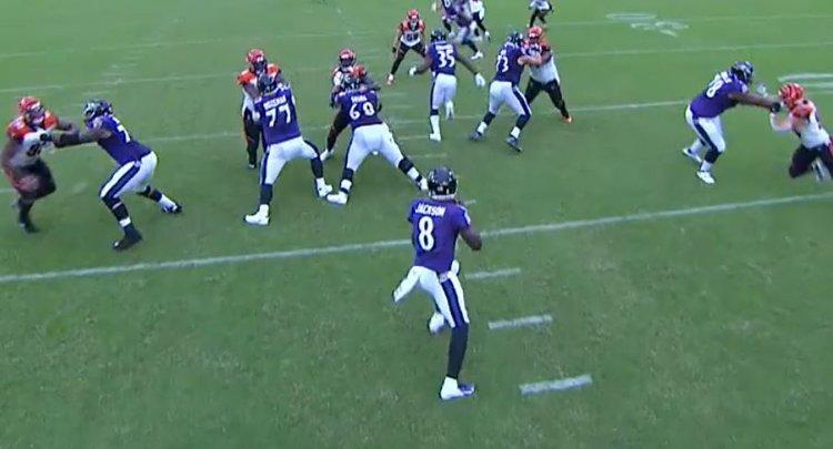 Offensive Line Scoring vs. Bengals 10/13/19