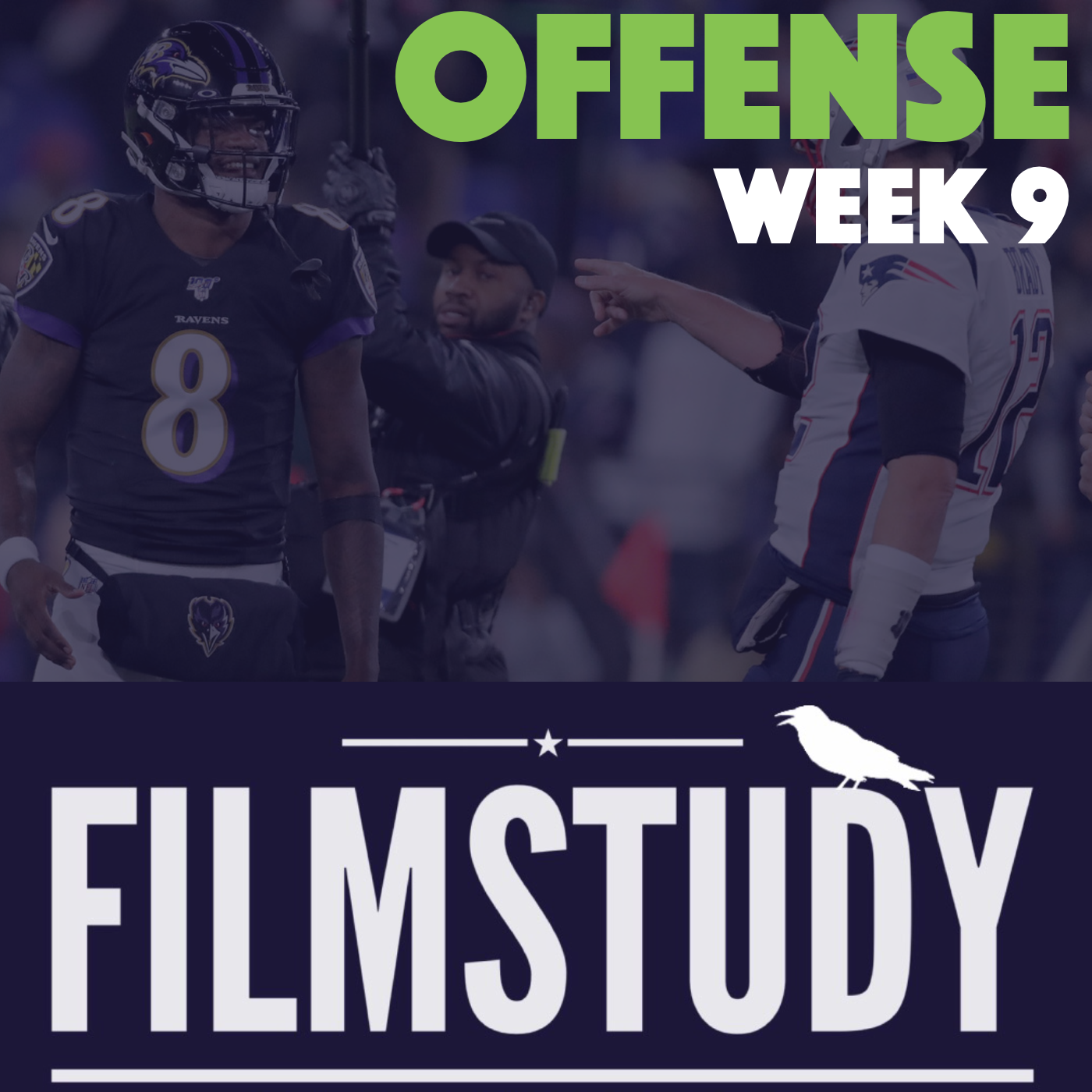 Offense Notes : Week 9 Patriots @ Ravens