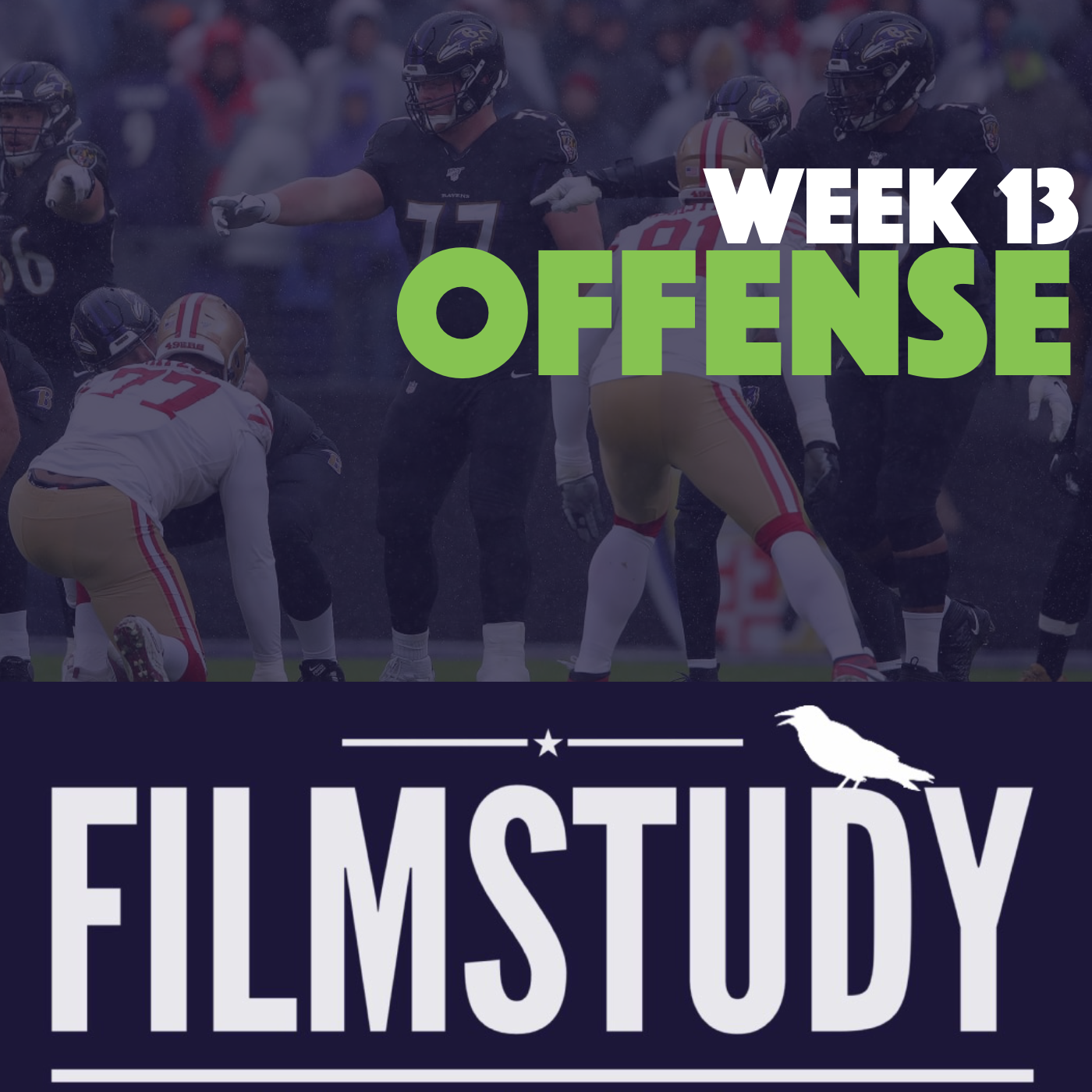 Offense Notes – Week 13 – 49ers @ Ravens