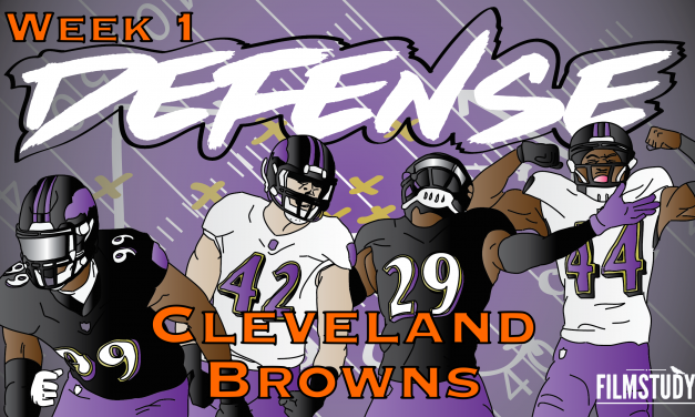 Defensive Notes Week 1 Cleveland Browns @ Baltimore Ravens