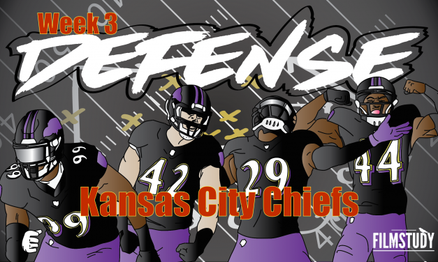 Defensive Notes Week 3 Kansas City Chiefs @ BALTIMORE RAVENS