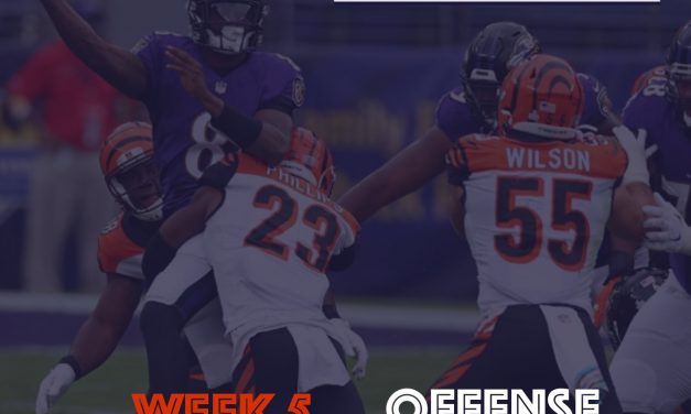Offense Notes : Week 5 Bengals @Ravens