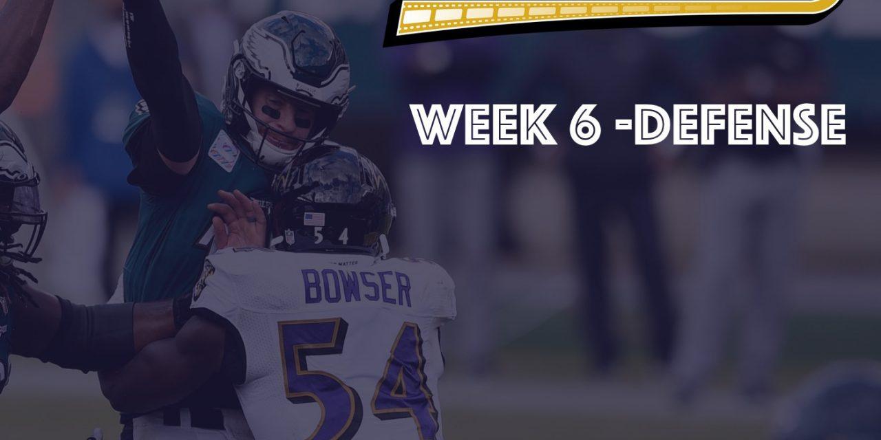 Defensive Notes : Week 6 Ravens @ Eagles