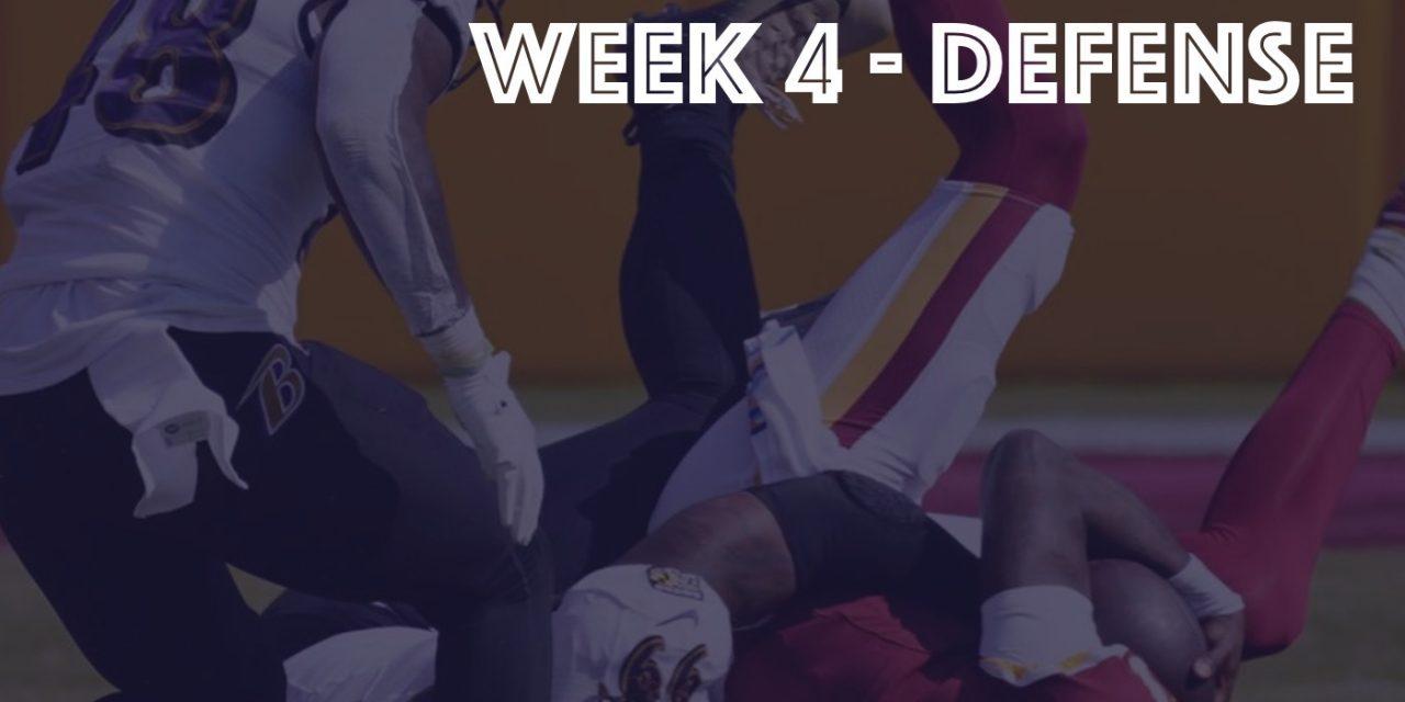 Defensive Notes : Week 4 Ravens @ Football Team