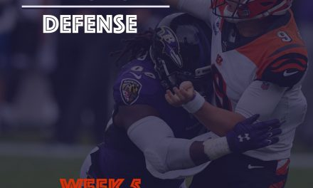 Defensive Notes : Week 4 Bengals @ Ravens