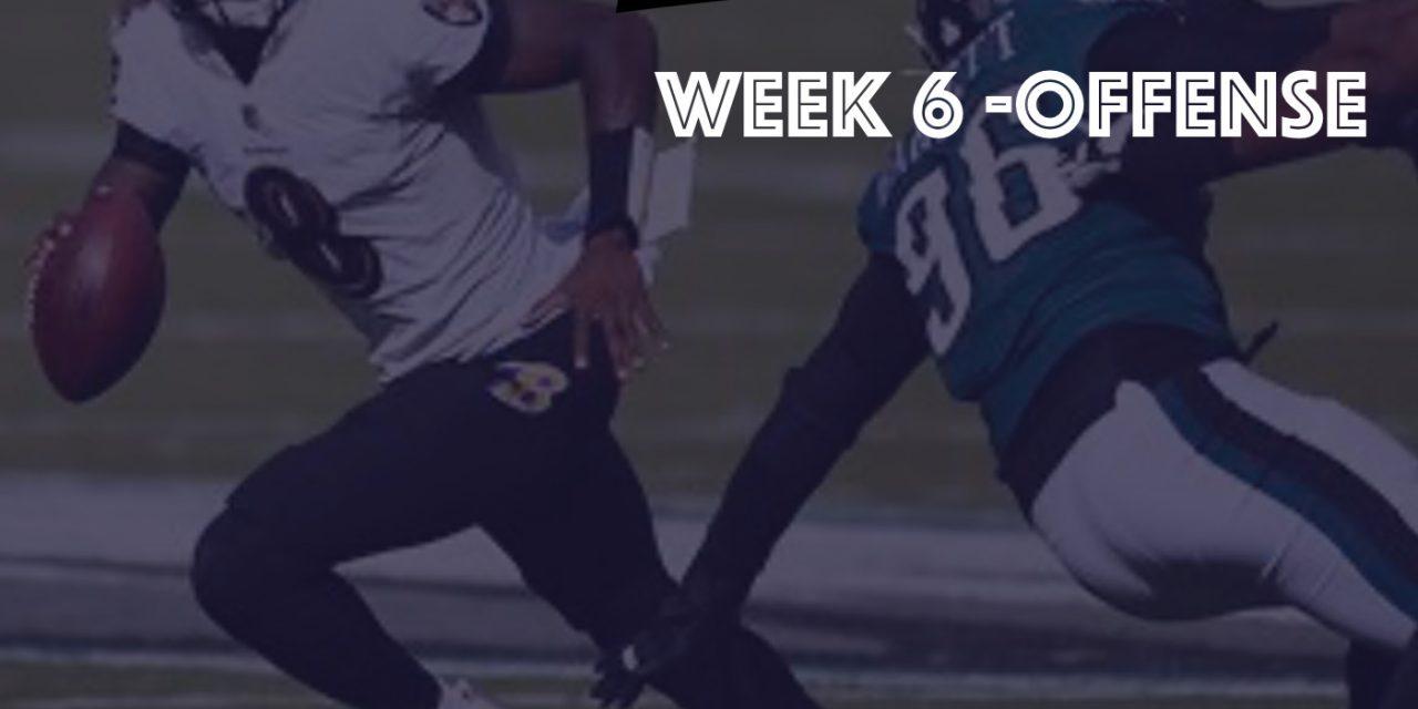 Offensive Notes : Week 6 Ravens @ Eagles