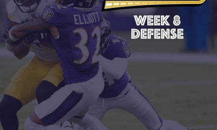 Defensive Notes : Week 8 Steelers @ Ravens