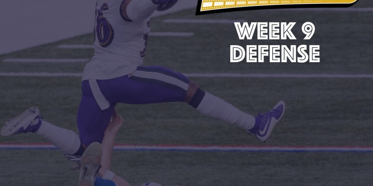 Defensive Notes : Week 9 Ravens @ Colts