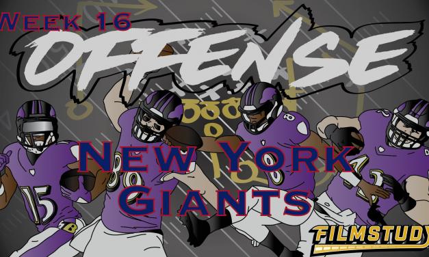 Offense Line Scoring Week 16 New York Giants @ Baltimore Ravens