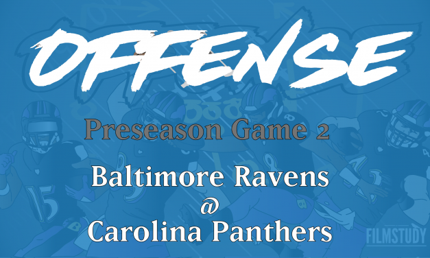 Offensive Notes Preseason Game 2 Ravens @ Panthers
