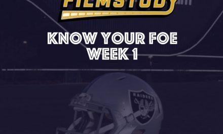 Know Your Foe : Las Vegas Raiders – Week 1 – 2021