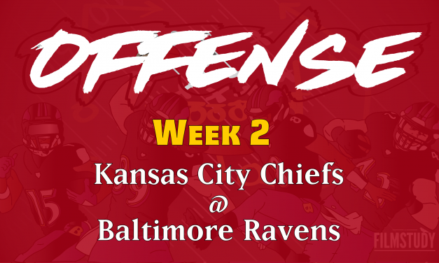 Offensive Notes Week 2 Chiefs @ Ravens