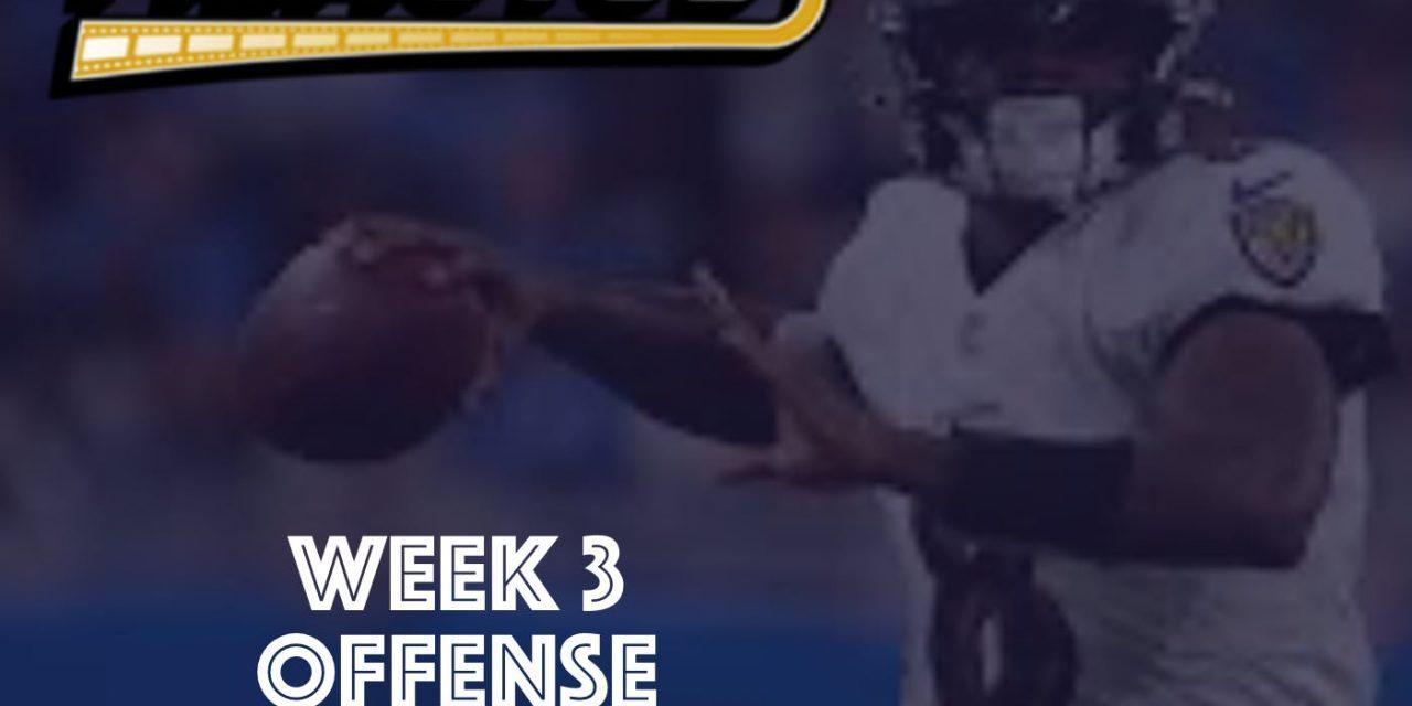 Offense Review – Week 3 – 2021