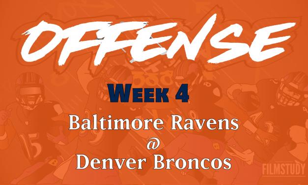 Offensive Notes Week 4 Ravens @ Broncos