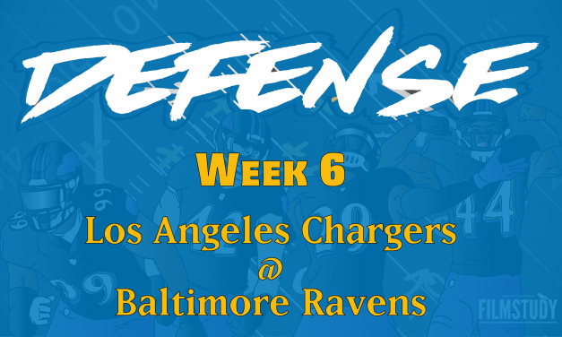 Defensive Notes Week 6 Chargers @ Ravens
