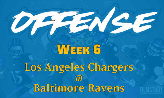 Offensive Notes Week 6 Chargers @ Ravens
