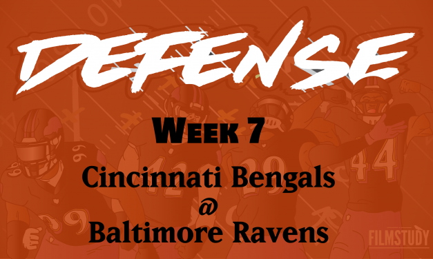 Defensive Notes Week 7 Bengals @ Ravens