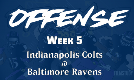 Offensive Notes Week 5 Colts @ Ravens