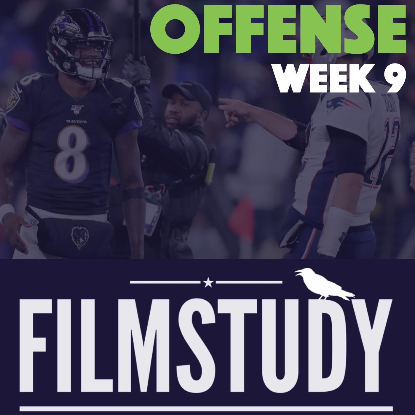 Offense Notes : Week 9 Patriots @ Ravens