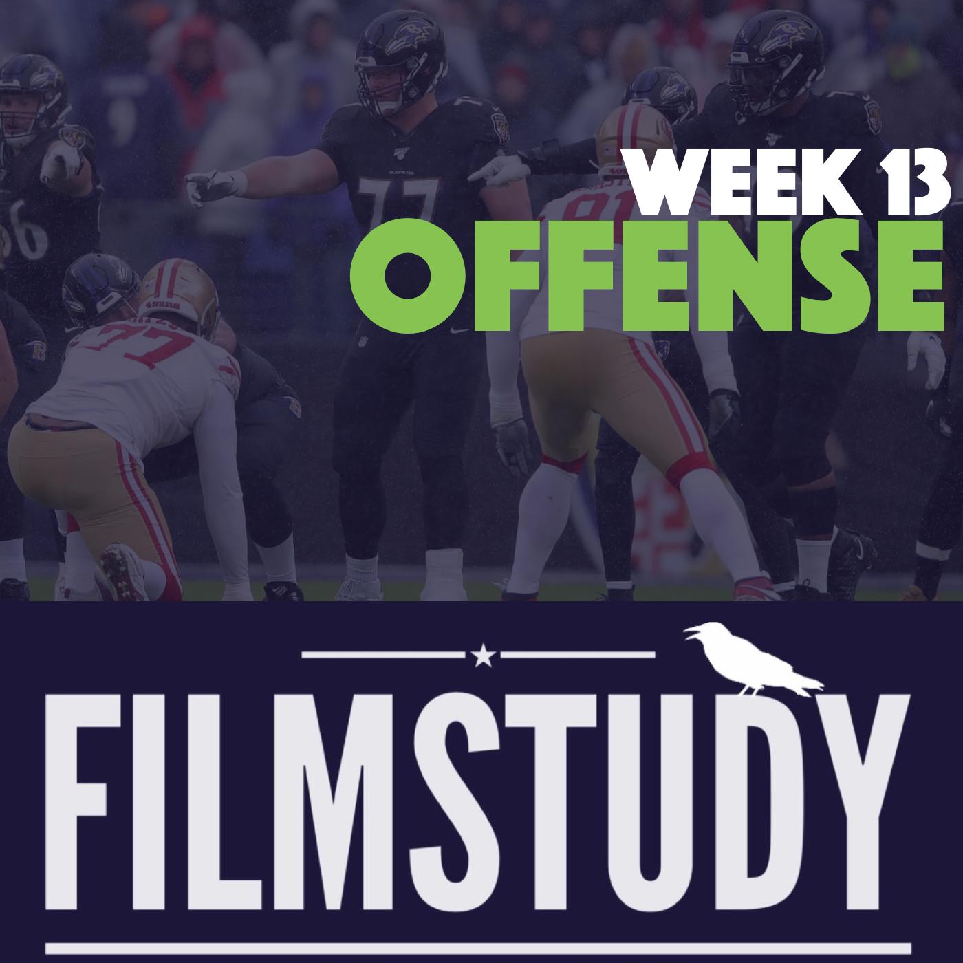 Offense Notes – Week 13 – 49ers @ Ravens