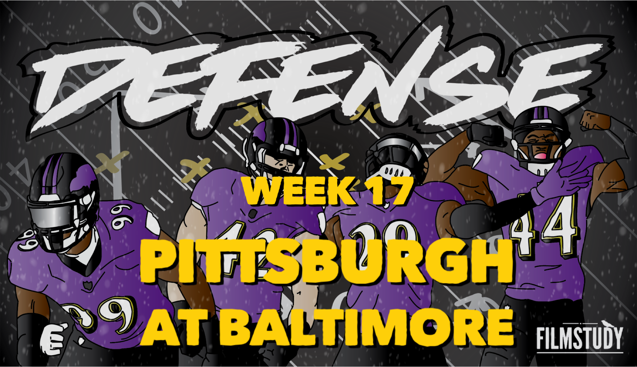 Defensive Notes Week 17 Steelers at Ravens