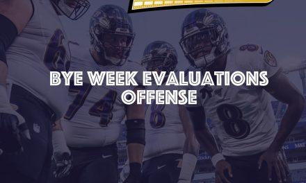 Bye Week Evaluations – Offense -2020