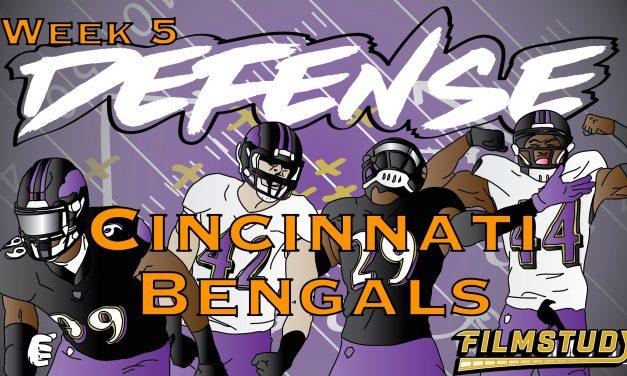 Defensive Notes Week 5 Cincinnati Bengals @ Baltimore Ravens