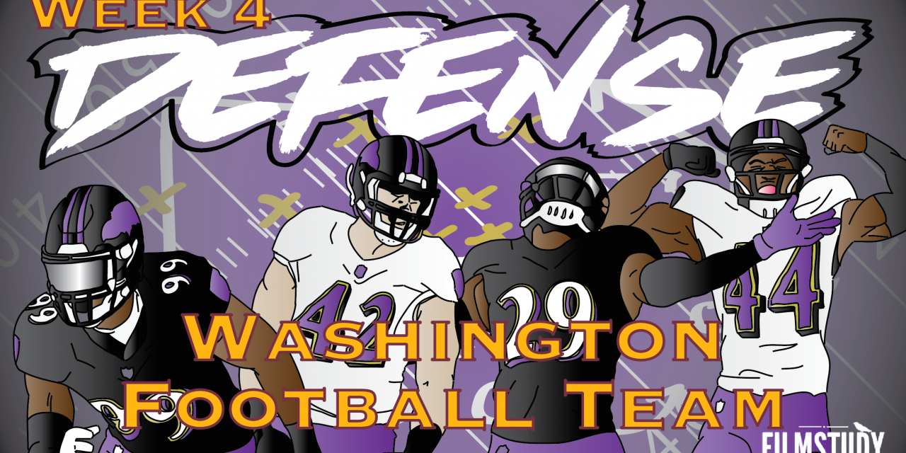 Defensive Notes Week 4 Baltimore Ravens @ Washington Football Team