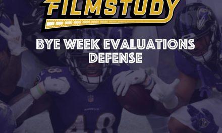 Bye Week Evaluations : Defense 2020