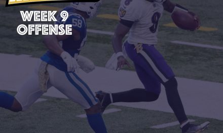 Offense Notes : Week 9 Ravens @ Colts