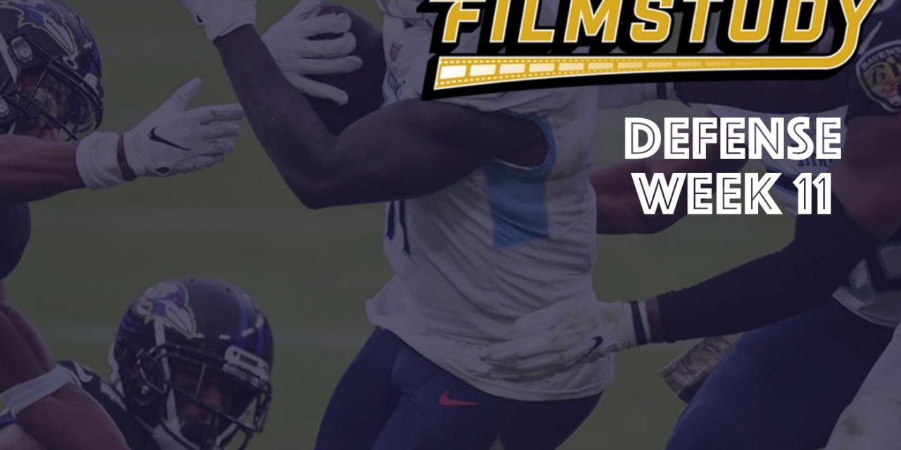 Defensive Notes : Week 11 Titans @ Ravens