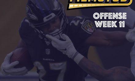 Offense Notes : Week 11 Titans @ Ravens