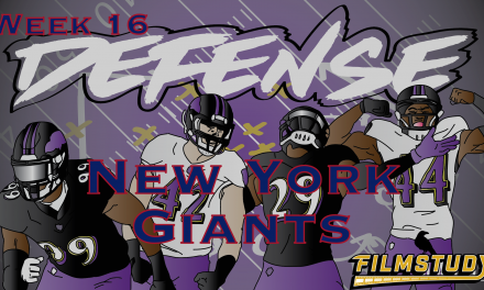 Defensive Notes Week 16 New York Giants @ Baltimore Ravens