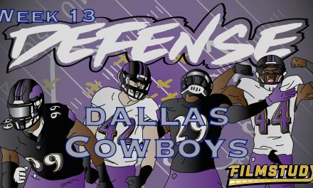 Defensive Notes Week 13 Dallas Cowboys @ Baltimore Ravens