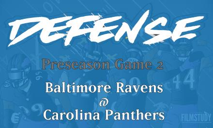 Defensive Notes Preseason Game 2 Ravens @ Panthers